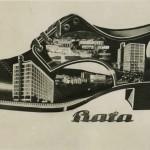 63 Shoe shape postcard. Bata, Zlin 1930s