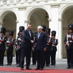 Italian Prime Minister Mario Monti with Czech Prime minister, Petr Necas,