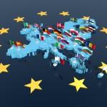 Europa 3d bandiere celeste 1