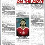 Tomáš Skuhravý nella rivista dei Glasgow Rangers prima di una sfida con lo Sparta Praga / Tomáš Skuhravý in Glasgow Rangers' magazine before a match with Sparta Praha