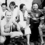 La nazionale cecoslovacca festeggia la qualificazione ai mondiali del 1990 / The Czechoslovak national team celebrating its qualification to the 1990 World Cup