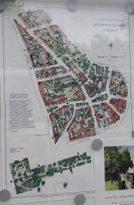Mappa di Rixdorf, villaggio boemo e tedesco / A map of Rixdorf, a Bohemian and German village