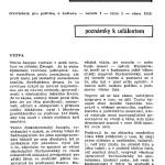 Il primo numero della rivista trimestrale Svědectví, nell'inverno 1956 / The first issue of Svědectví, the quarterly magazine, in Winter 1956