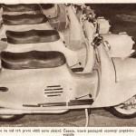 La prima serie dello scooter Čezeta nel 1956 / The first series of the Cezeta scooter in 1956