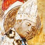 Papa Clemente VI in un affresco della cappella di Saint-Martial, nel Palazzo dei Papi di Avignone / Pope Clement VI in a fresco of the Saint-Martial Chapel, at the Palais des Papes in Avignon