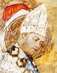 Papa Clemente VI in un affresco della cappella di Saint-Martial, nel Palazzo dei Papi di Avignone / Pope Clement VI in a fresco of the Saint-Martial Chapel, at the Palais des Papes in Avignon
