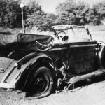 La macchina di Reinhard Heydrich dopo l'attentato del 1942 / Reinhard Heydrich's car after the 1942 assassination attempt