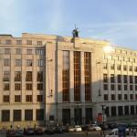 La sede centrale della Česká národní banka, la banca nazionale ceca, a Praga / Main building of the Česká národní banka, the Czech national bank, in Prague