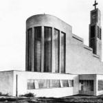 La costruzione appena terminata nel 1928