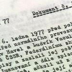 L'incipit della lettera-manifesto resa pubblica il 6 gennaio 1977 / Incipit of the letter-manifesto published on January 6, 1977