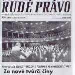 Prima pagina del Rudé Právo del 31 gennaio 1977 sull'eventi Anti-charta / First page of Rudé Právo on January 31, 1977 on the Anti-Charter event