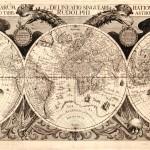 Una moderna mappa del mondo disegnata da Philip Eckebrecht sulla base delle Tavole Rudolfine di Keplero / A modern depiction of the world by Philip Eckebrecht, based on the Rudolphine Tables by Kepler