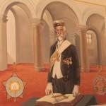 Alfons Mucha con l'abito e le insegne massoniche / Alfons Mucha in Freemason's regalia