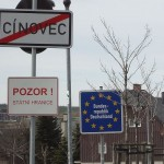Il confine tra Cínovec e la Germania / The border between Cínovec and Germany