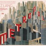 La locandina del film Metropolis diretto da Fritz Lang / The film poster of Metropolis, directed by Fritz Lang