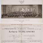 Libretto di un concerto di Toscanini organizzato dalla Philharmonic Symphony Society di New York / Libretto of a Toscanini's concert organized by the New York's Philharmonic Symphony Society