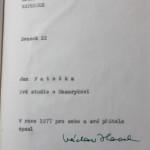 """Un volume di studi su Masaryk scritto nel 1977 da Jan Patočka (""""Per sè e per i propri amici"""") e firmato da Václav Havel / A volume of studies on Masaryk written by Jan Patočka in 1977 (""""For himself and his friends"""") and signed by Václav Havel"""