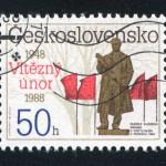 Un francobollo commemorativo del Febbraio vittorioso / Commemorative stamp of the Victorious February