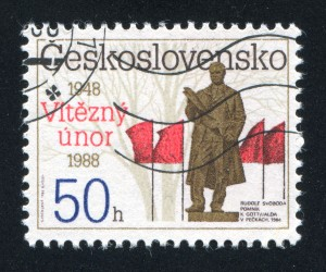 Un francobollo commemorativo del Febbraio vittorioso / Commemorative stamp of the Victorious February