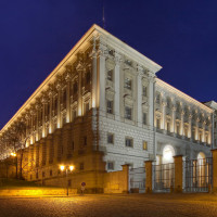 25621399 - prague - night view to cernin palace, residence of foreign ministry