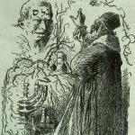 Il Golem e il rabbino Löw in un disegno di Mikoláš Aleš (1899) / Rabbi Loew and Golem by Mikoláš Aleš, 1899