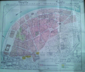 Un piano del risanamento del quartiere di Josefov, eseguito fra la fine del XIX e l'inizio del XX secolo / A plan for the restructuring of Josefov district, carried out between the end of the 19th and the beginning of the 20th century