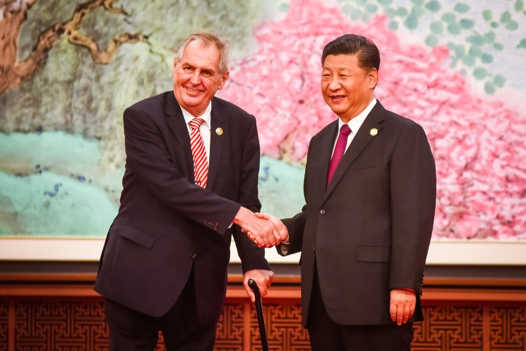 The Czech delegation at a meet in China, during the official visit of President Zeman, last November 2018