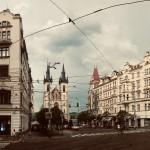 Piazza Strossmayer (Strossmayerovo náměstí), alla base della collina di Letná / Strossmayer square (Sttrossmayerovo náměstí), at the beginning of Letná hill