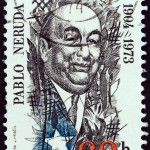 Un francobollo stampato in Cecoslovacchia per i settant'anni di Pablo Neruda / A stamp printed in Czechoslovakia in the 70th birth anniversary of Pablo Neruda
