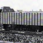 La fila di persone in attesa di vedere Kinoautomat all'Expo 67 di Montreal / The crowd of people waiting to see Kinoautomat at Expo 67 in Montreal © Archív Aleny Činčerové