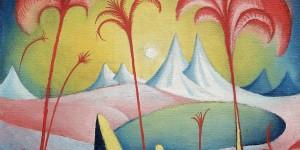 Paesaggio fantastico, un olio su tela di Jan Zrzavý / Fantastic Landscape, a painting by Jan Zrzavý