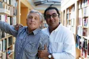 Jiří Menzel con il regista indiano Shivendra Singh Dungarpur / Jiří Menzel and the Indian director Shivendra Singh Dungarpur © Facebook, Czechmate