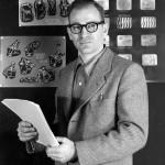 Gene Deitch nel 1955, quando lavorava come direttore creativo all'UPA di New York / Gene Deitch when he was the creative director of UPA-New York, in 1955