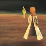Il quadro surrealista La dormiente / The surrealist painting Asleep